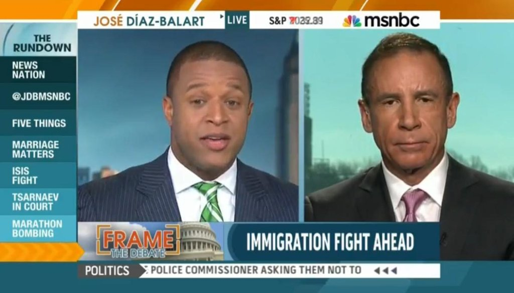 "MSNBC host Craig Melvin discusses immigration reform with guests while filling in on MSNBC's ""The Rundown"" on Jan. 5, 2015."
