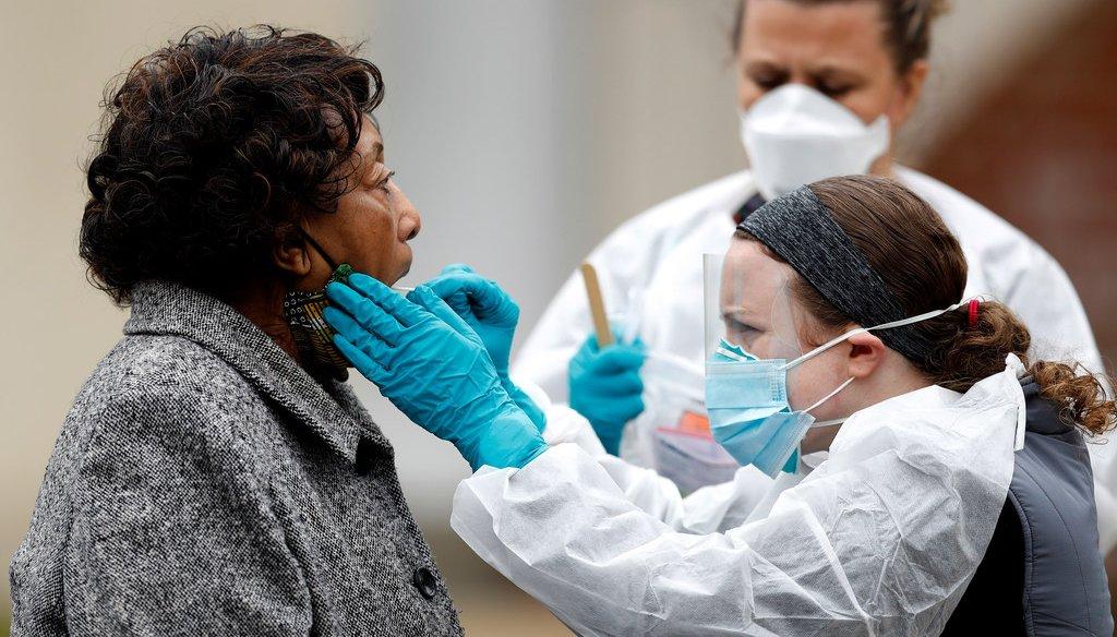 A walk-up testing center in Annapolis, Md. (AP Photo/Julio Cortez/file)