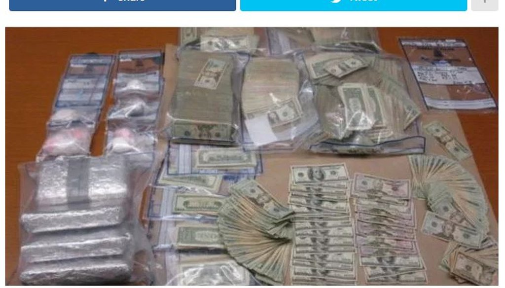 A contrived news story that said a senator's ranch was raided by the Drug Enforcement Agency was first posted by a notorious fake news site.