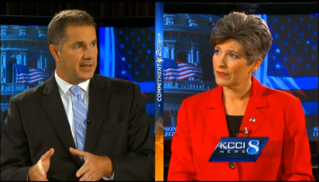 In a Sept. 28 debate in Des Moines, Senate candidates Rep. Bruce Braley, D-Iowa, and Republican Joni Ernst disagreed about the potential impact of anti-abortion legislation that Ernst sponsored.