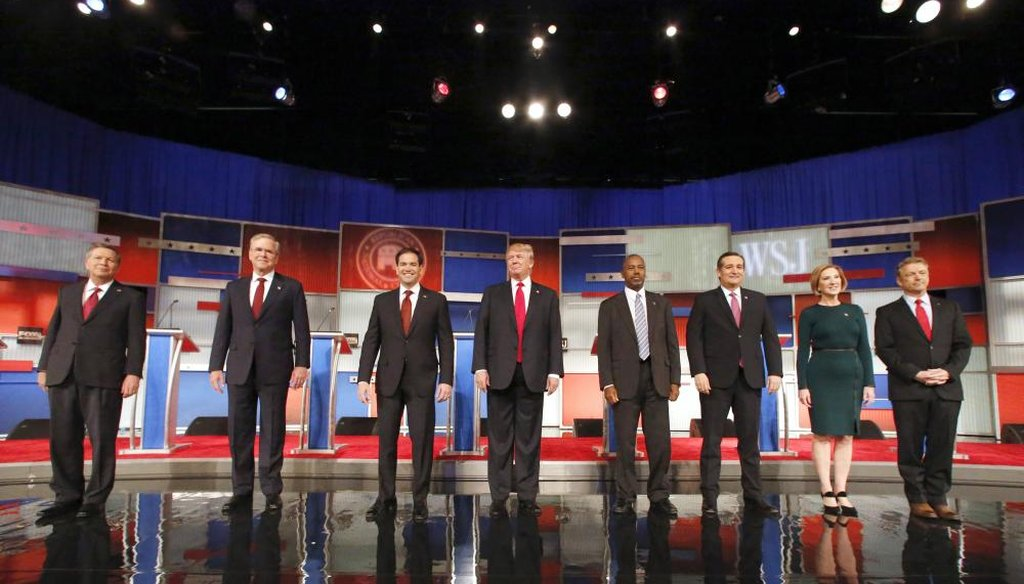 The GOP candidates for president debate in Las Vegas tonight. (AP File)