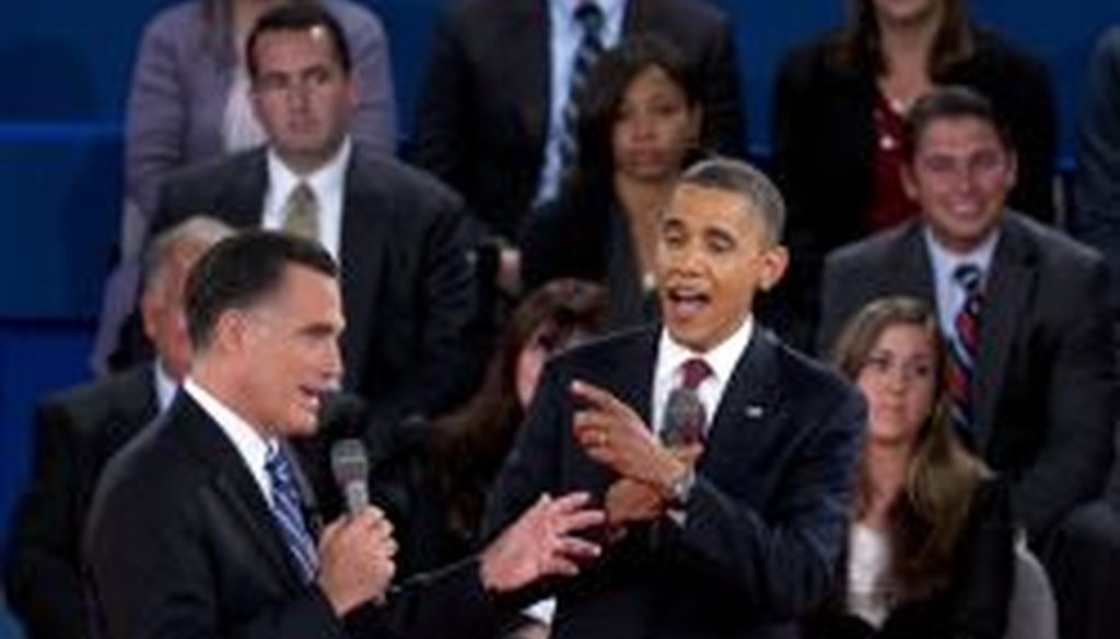 """At the second presidential debate, Mitt Romney said President Obama waited two weeks to call the attack in Libya """"terror."""" We rated that Half True."""