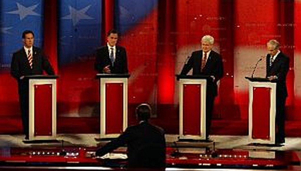 The candidates debate in Tampa. (Tampa Bay Times photo by Edmund D. Fountain)
