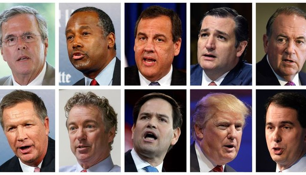 Line 'em up; Republican presidential hopefuls including Texans Ted Cruz and Rick Perry get debate chances today.