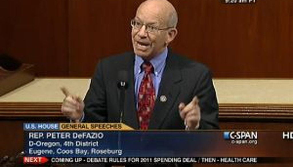"""Rep. Peter DeFazio, D-Ore., said on the House floor that """"Medicare passed with virtually no Republican support."""" We checked that claim."""