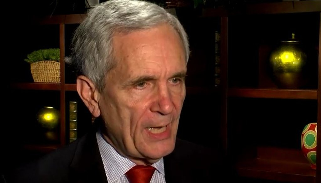 In an interview with CBS Austin, U.S. Rep. Lloyd Doggett made a Mostly False claim about universities and federal law (screenshot, CBS Austin, Dec. 15, 2016).
