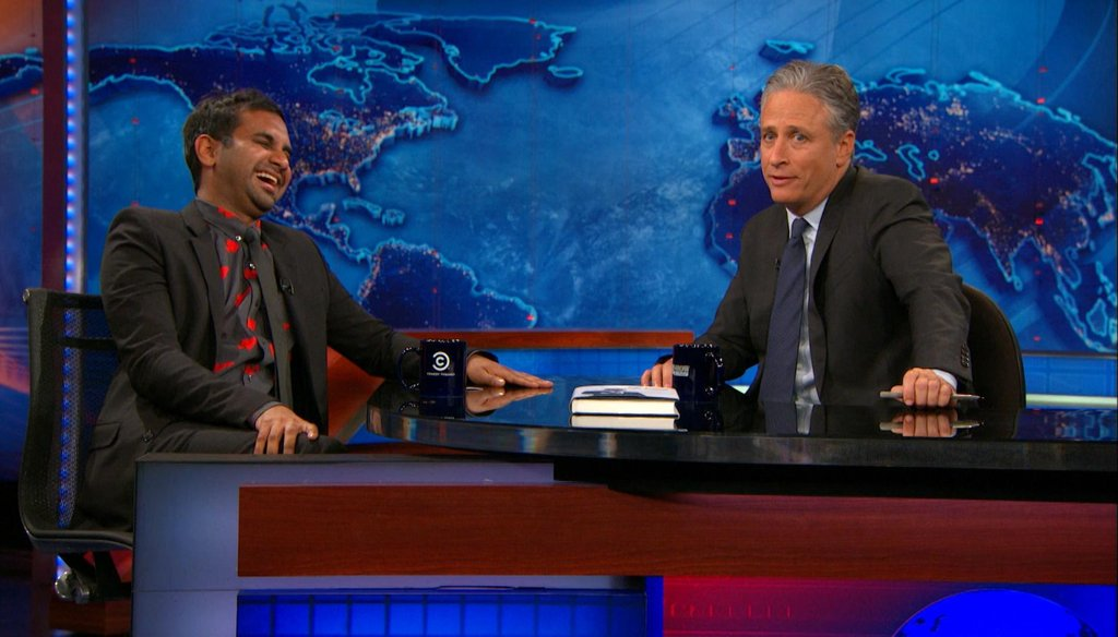 """Aziz Ansari on the June 16, 2015, edition of """"The Daily Show."""" (Comedy Central)"""