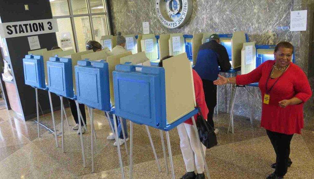 Early voting started in Wisconsin on Oct. 20, 2014. (AP Photo)