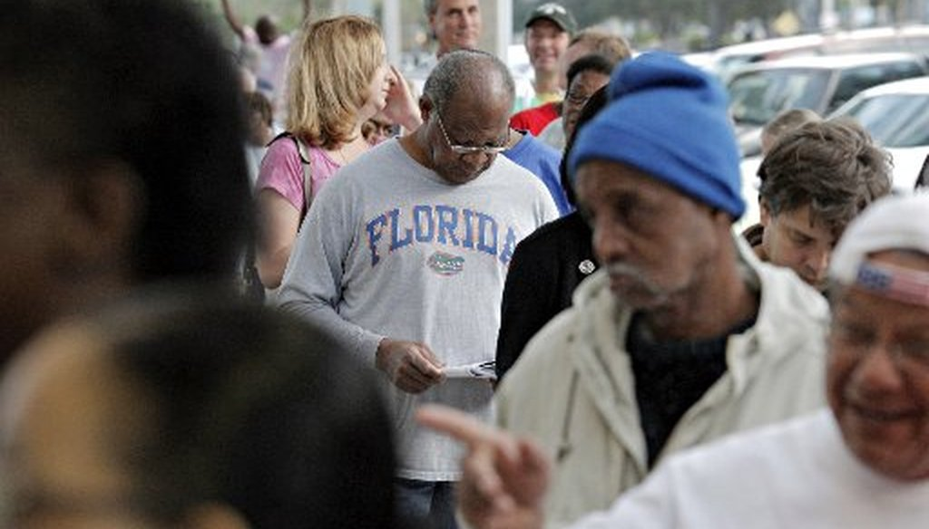 Long early voting lines are forcing Florida lawmakers to again rethink the state's elections laws. (Melissa Lyttle   Times)