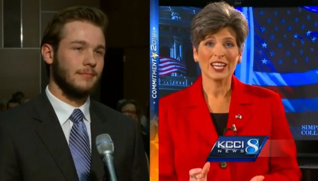Republican Senate candidate Joni Ernst debated her Democratic rival on Oct. 11, 2014. We checked one of her claims.