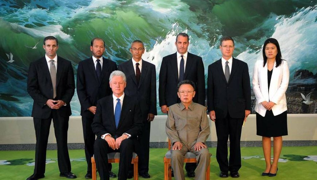 Former President Bill Clinton meets with North Korea's Kim Jong Il in 2009.