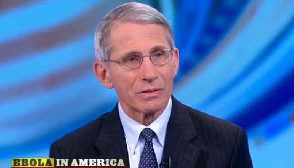 If you watched Sunday, you no doubt saw Dr. Anthony Fauci, head of the National Institute of Allergy and Infectious Diseases.