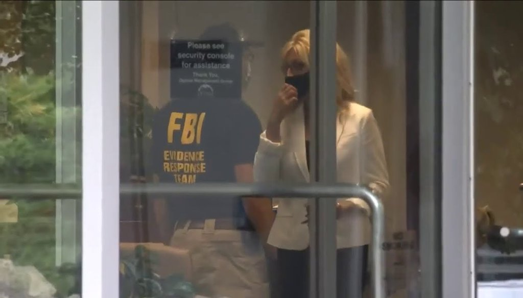 On Aug. 4, 2020, FBI agents raided offices in downtown Cleveland that belong to Optima Management Group LLC. (Screenshot from YouTube)