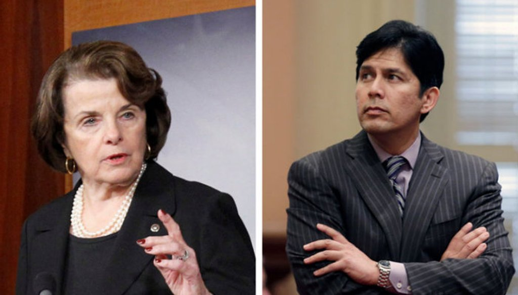 Sen. Dianne Feinstein and and State Sen. Kevin de León are running for U.S. Senate in California / Photo by Capital Public Radio
