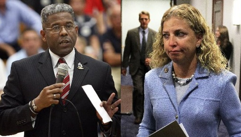 Allen West and Debbie Wasserman Schultz