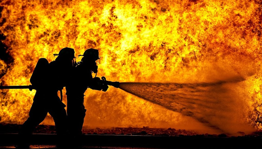 Firefighters engaged in a training exercise. (Creative Commons)