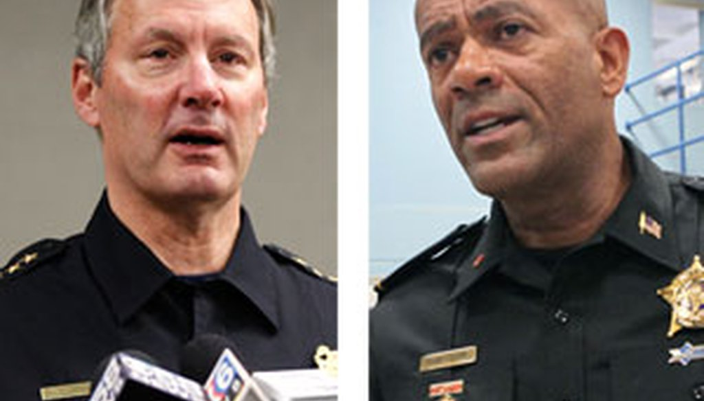 Milwaukee Police Chief Ed Flynn and Milwaukee County Sheriff David A. Clarke Jr.