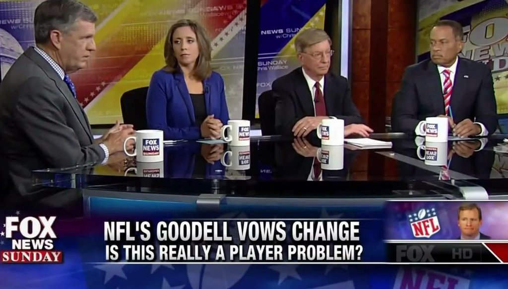 """The """"Fox News Sunday"""" political panel dissects the NFL and ISIS on Sept. 21, 2014."""