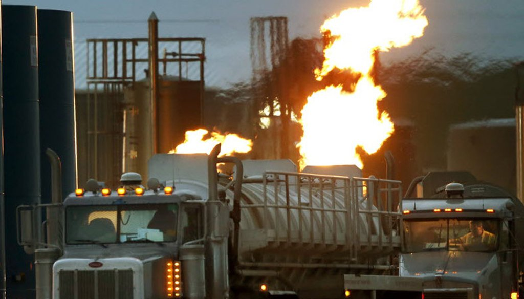 A gas depot in North Dakota. AP file photo