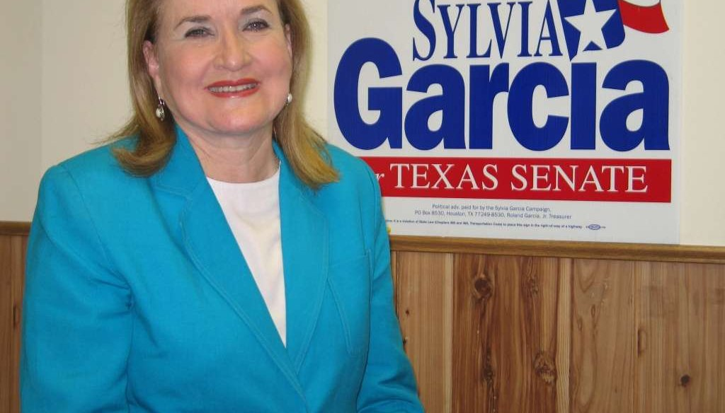 State Sen. Sylvia Garcia, D-Houston, made a Half True claim about existing laws barring people from entering bathrooms to do harm (La Voz de Houston photo).
