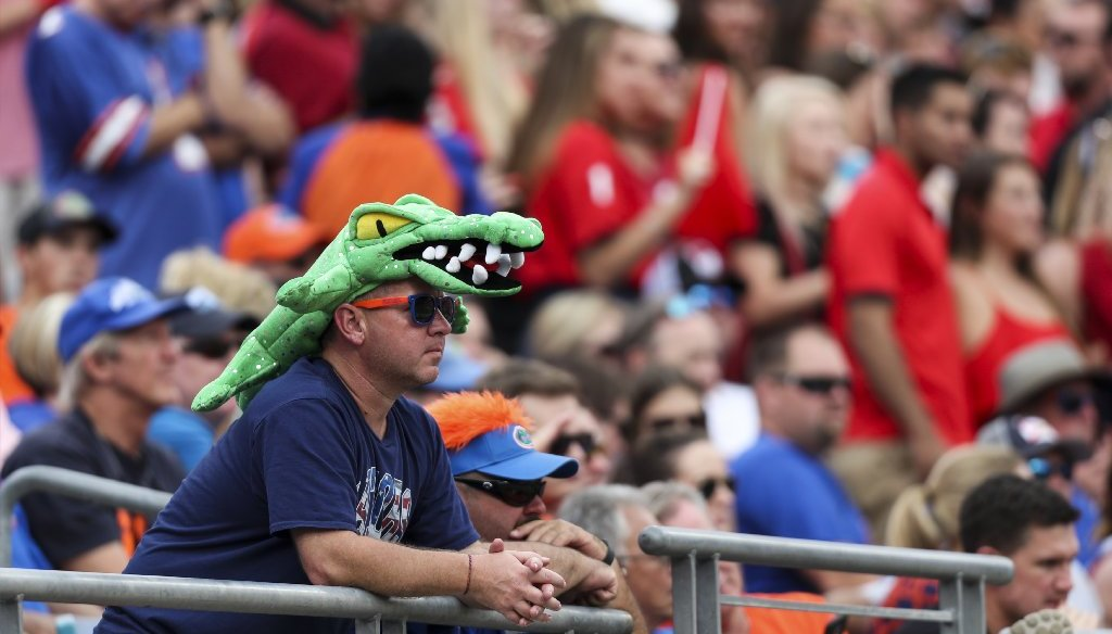 Don't worry, Gators fans, the story that the University of Florida has asked to cancel its annual rivalry game with Florida State is fake. (Tampa Bay Times photo)