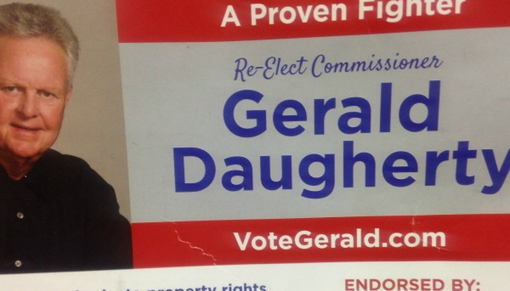 This Austin PAC's mailer incorrectly says Gerald Daugherty has been endorsed in the November 2016 elections by the Austin American-Statesman, we confirmed.