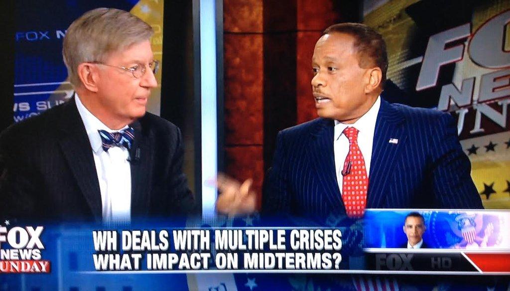 "George Will and Juan Williams on ""Fox News Sunday"" Oct. 5, 2014."