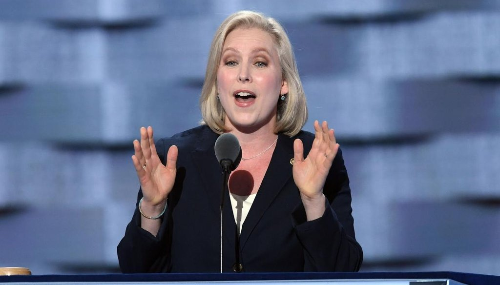 New York Sen. Kirsten Gillibrand speaks during the first day of the Democratic National Convention on July 25, 2016, at the Wells Fargo Center, Philadelphia, Pa. (TNS)