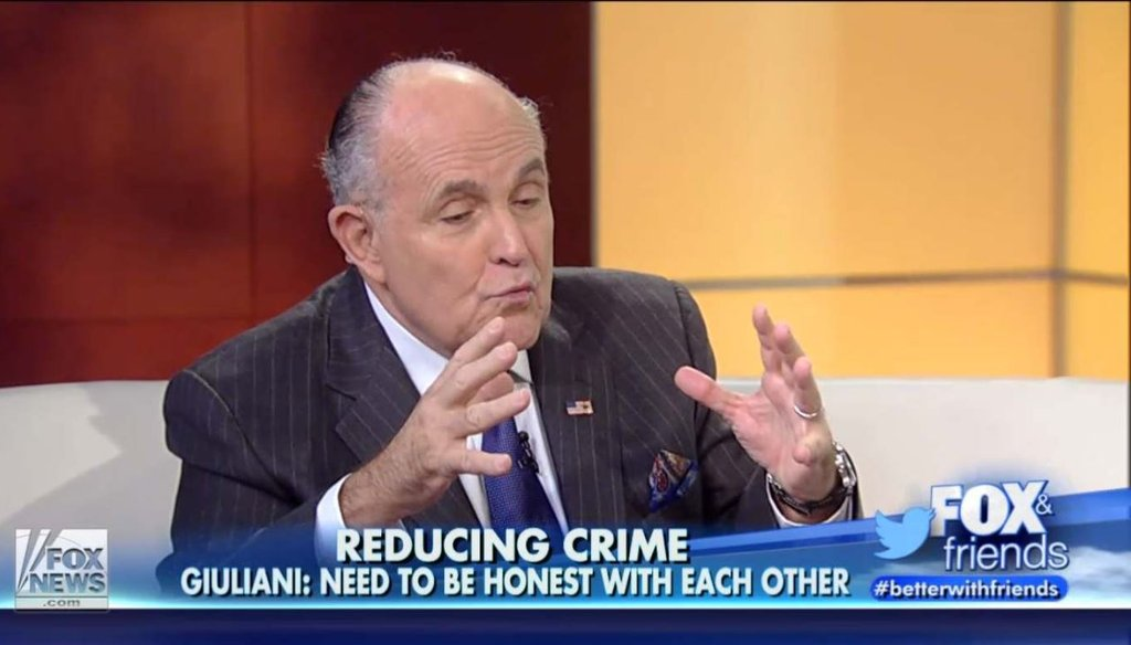 Former New York City Mayor Rudy Giuliani appeared on 'Fox and Friends' Nov. 24 to defend his earlier comments on race and law enforcement.