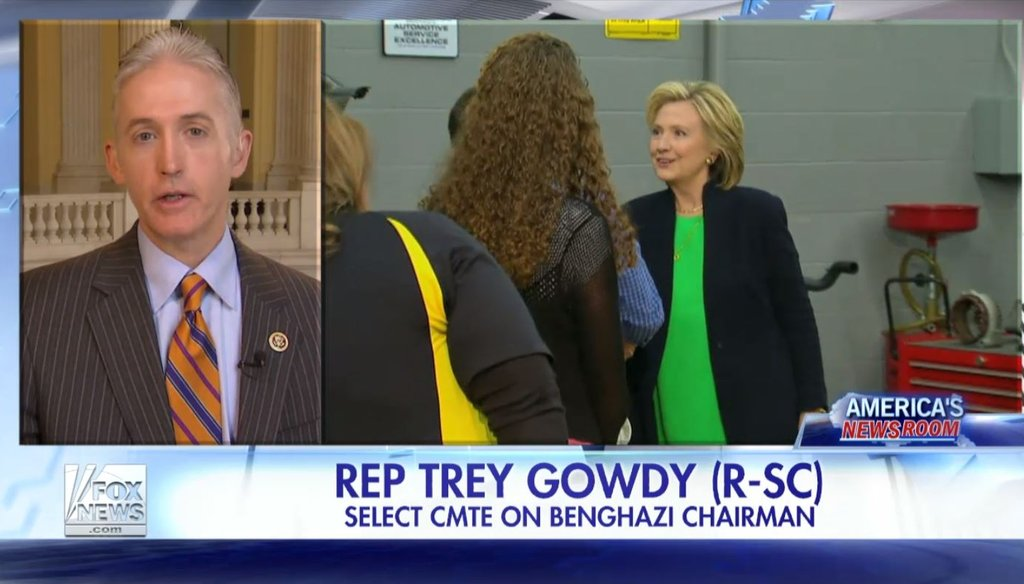 "On Fox News May 15, 2015, House Benghazi Committee Chair Rep. Trey Gowdy, R-S.C., said the State Department is ""stonewalling"" his investigation."