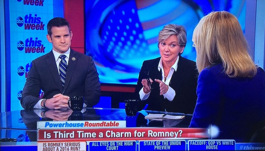 Former Michigan Gov. Jennifer Granholm took a swipe at Mitt Romney after he stoked speculation that he may seek a third run for president.