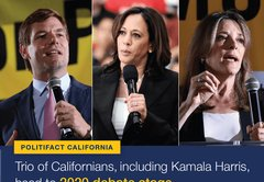 Harris, Swalwell, Williamson: A quick look at the Californians on tonight's debate stage
