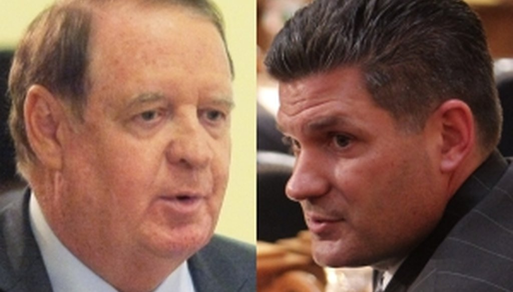 State Sen. Richard Codey, left, and Assemblyman Lou Greenwald faced the Truth-O-Meter this weekend.