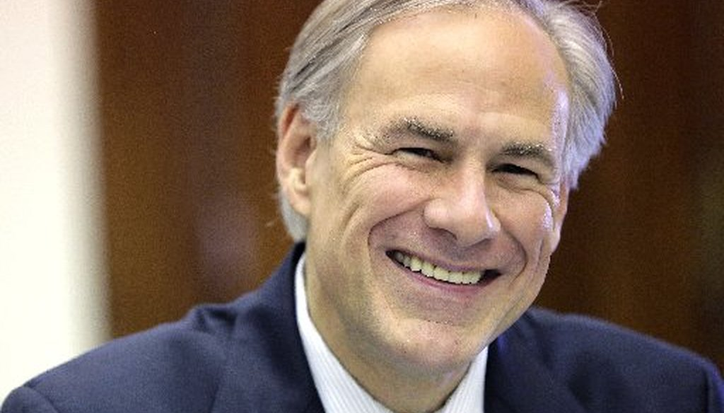 Greg Abbott's tweet about fewer abortions and unintended pregnancies led us to a Mostly False rating (Photo by the Associated Press, Eric Gay).