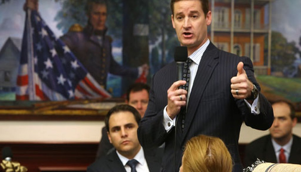 Rep. Greg Steube, R-Sarasota, has introduced a bill that would allow concealed carry permitholders to bring guns on college and university campuses. (Tampa Bay Times file photo)