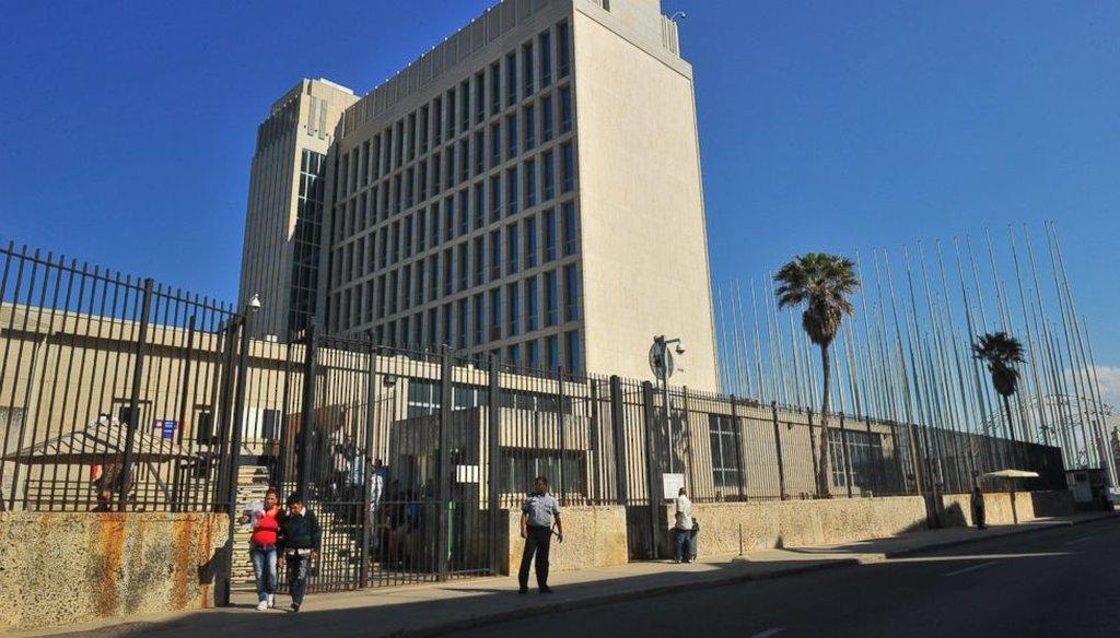 The U.S. Interests Section in Havana, Cuba. (Getty)