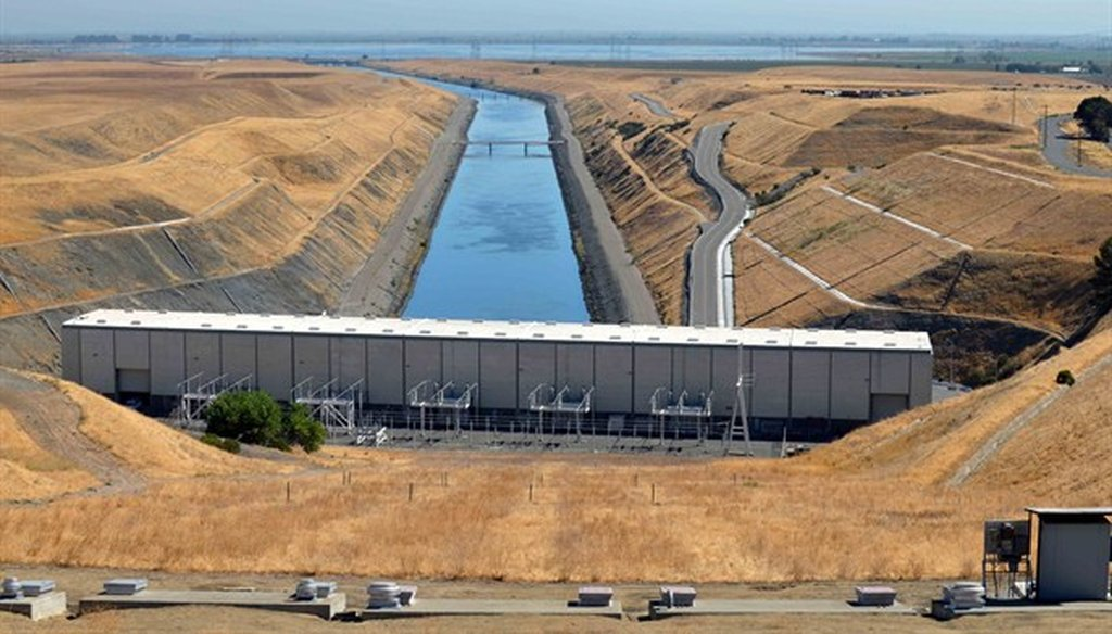 The Harvey O. Banks Pumping Plant near Tracy, CA is the starting point for the California Aqueduct, which sends water to Southern California. Photo by Curtis Haynes
