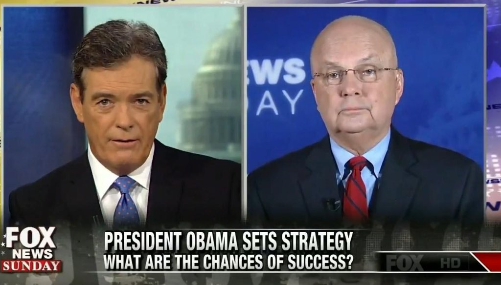 "Michael Hayden on ""Fox News Sunday"" on Sept. 14, 2014."