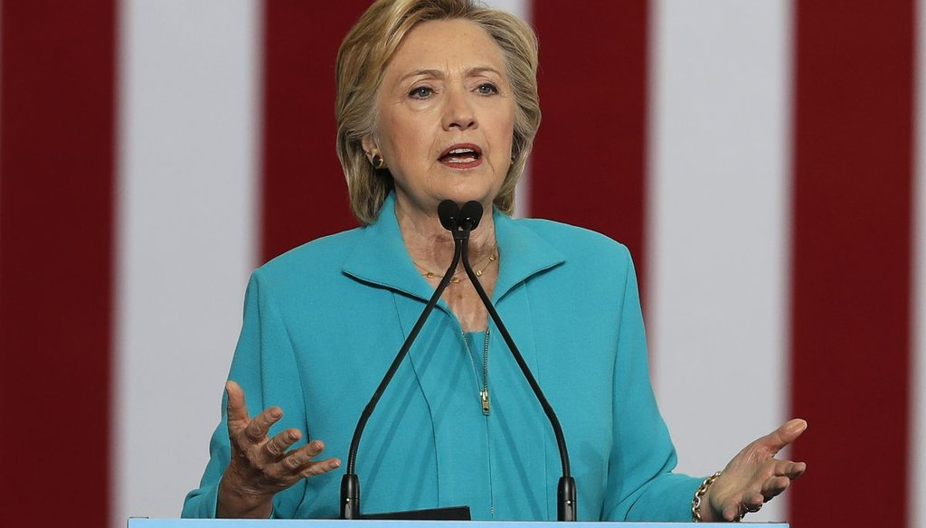 Democratic presidential nominee Hillary Clinton speaks in Reno, Nev., about Trump, and his representation of the 'alt-right.' (AP)