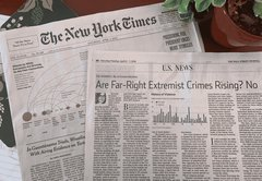Same day, different story: NYT, WSJ use different frames for far-right extremism