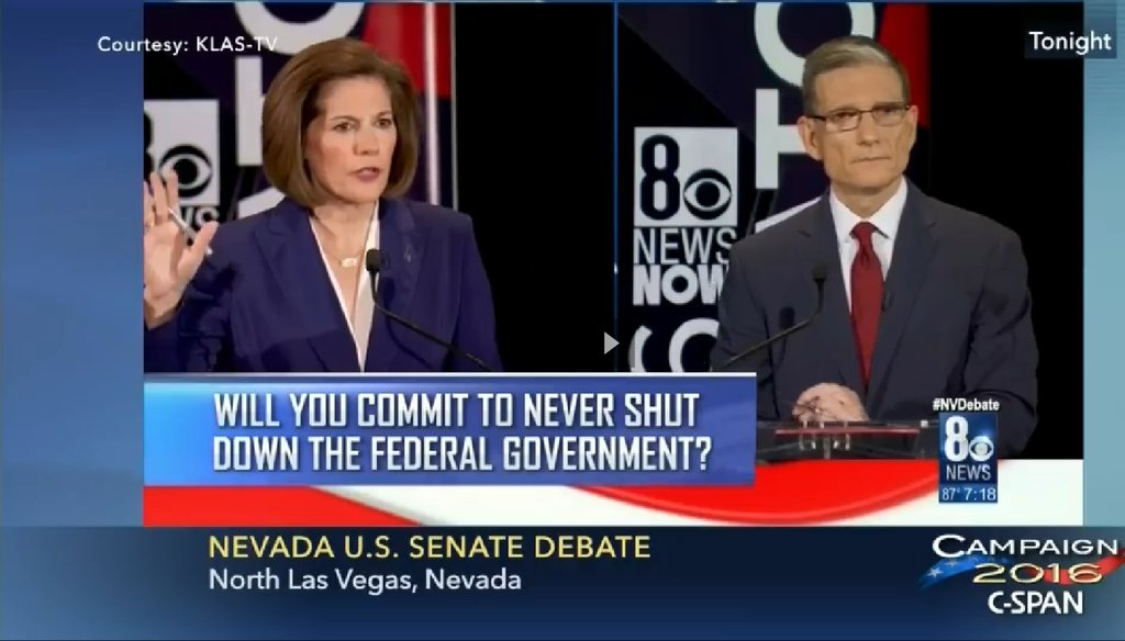 Nevada Senate candidates Catherine Cortez Masto and Joe Heck held their first and likely only debate on Friday, Oct. 14.