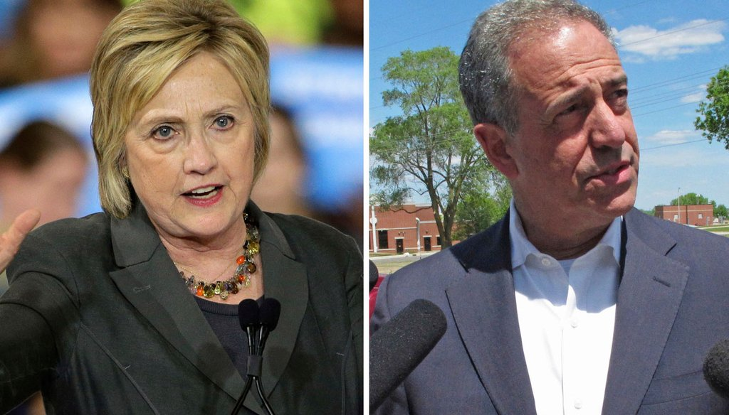 Republicans have been trying to tie Democrat Russ Feingold, in his bid to regain a Wisconsin U.S. Senate seat, to Democratic presidential nominee Hillary Clinton.