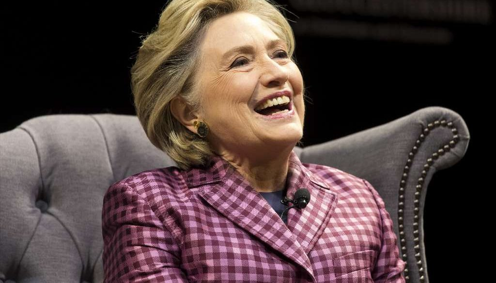 A fake news story said that former Democratic presidential nominee Hillary Clinton made disparaging remarks about Floridians facing Hurricane Irma. (Getty Images photo)