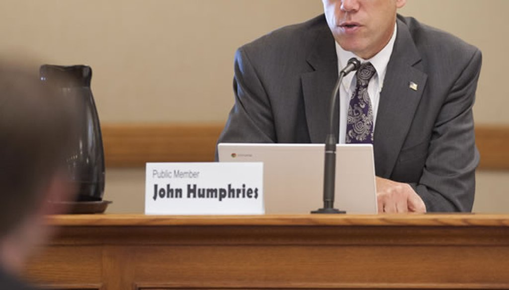 John Humphries, candidate for State Superintendent of Public Instruction. Campaign website photo
