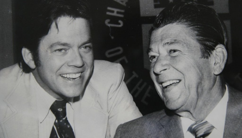 Arthur Laffer, left, is considered the father of supply-side economics. Here he is pictured with President Ronald Reagan. (Laffer Center)