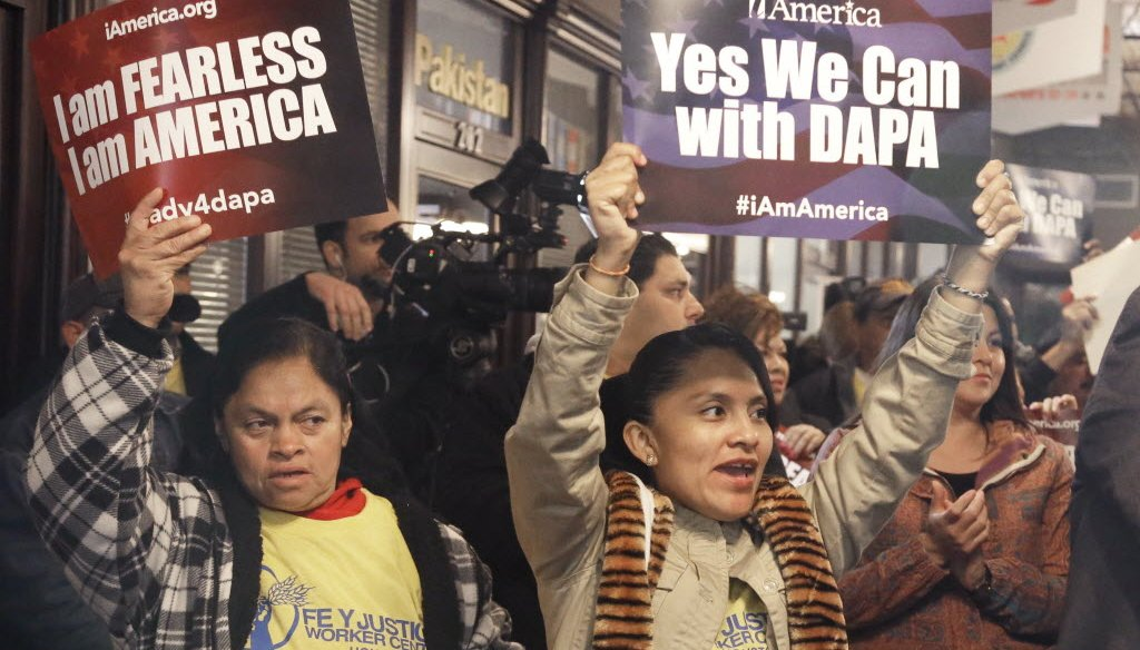 Demonstrators in Michigan rallied recently for immigration reform.
