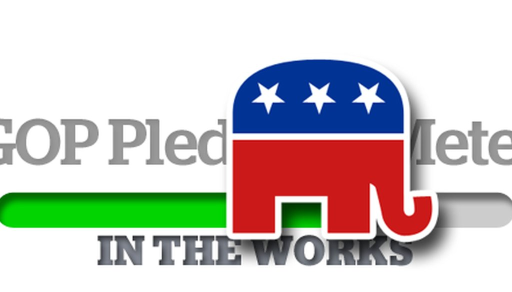 We're posting updates this week to the GOP Pledge-O-Meter and the Obameter.