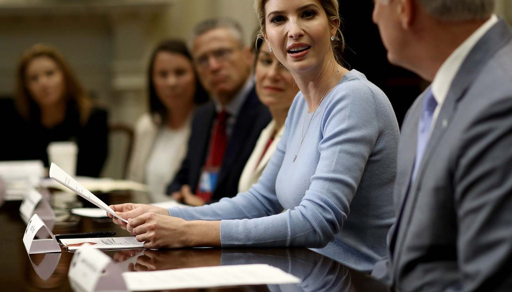 Ivanka Trump leads a meeting on human trafficking at the White House May 17, 2017.  (Win McNamee/Getty Images)