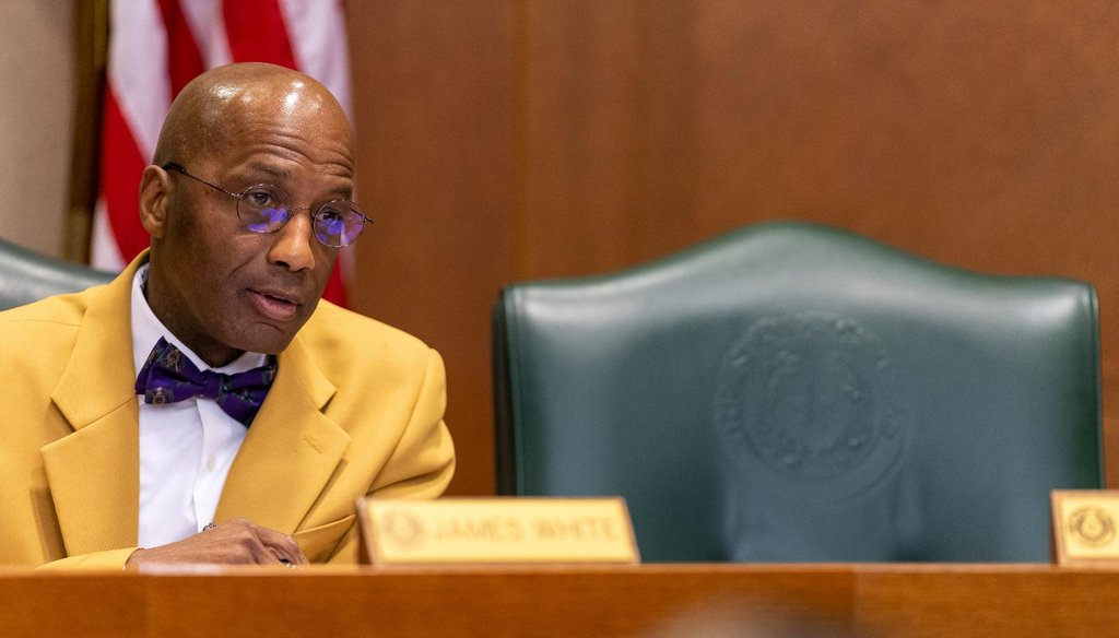 State Rep. James White R-Woodville, speaks at the Judiciary and Civil Jurisprudence Committee at the state Capitol in Texas in March 2019 (Stephen Spillman for Statesman).