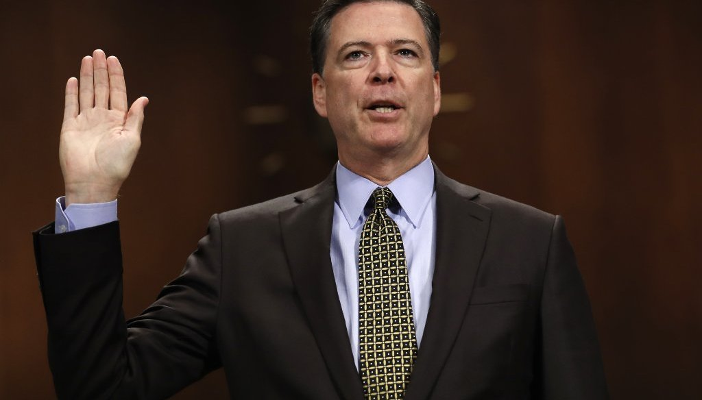 A fake news story said that former FBI Director James Comey knew the late Seth Rich was the source of WikiLeaks' DNC emails. (AP photo)